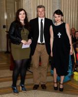 Deborah Byrne receiving the prize for best 15 minute dress