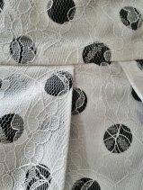 Design detail: Asanda Floral & Polka Dot Detailed Boobtube Skater Dress