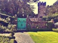 Wooden turquoise door