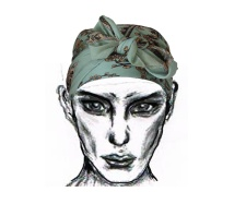 Enhanced face with headscarf