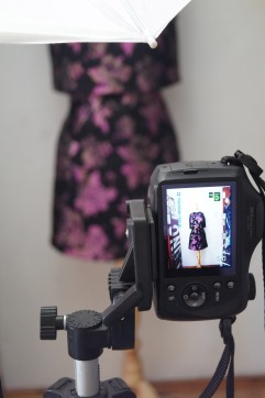 Photographing the final illustration dress